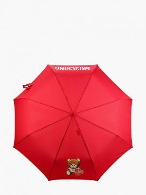 Складной зонт - красный Moschino