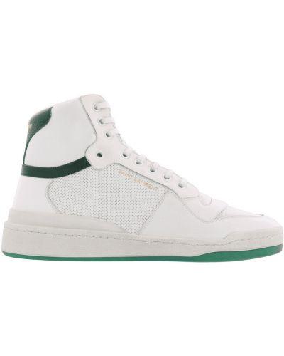 Białe sneakersy casual na niskim obcasie Saint Laurent