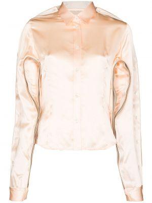 Шелковая классическая рубашка с длинными рукавами с воротником Y Project