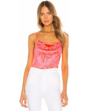 Klasyczny różowy body bawełniany Amanda Uprichard