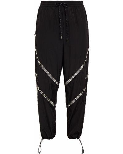 Czarne spodnie z nylonu Alexander Wang