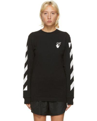 Bawełna czarny koszula z kołnierzem z paskami Off-white