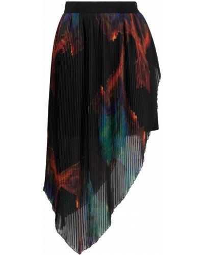 Asymetryczny z wysokim stanem czarny spódnica Just Cavalli