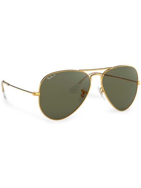 Złote okulary Ray-ban