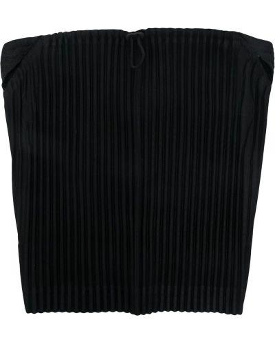 Плиссированный черный шарф круглый Homme Plissé Issey Miyake