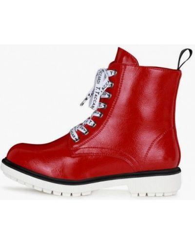 Лаковые красные кожаные ботинки T.taccardi