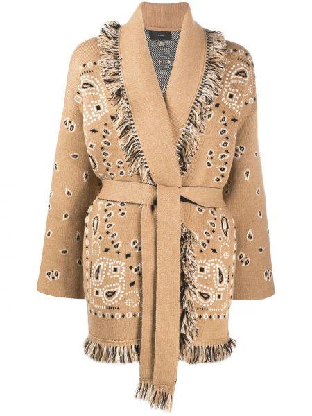Коричневое кашемировое пальто оверсайз Alanui