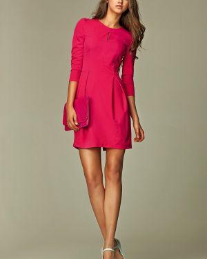 Różowa sukienka z wiskozy Nife
