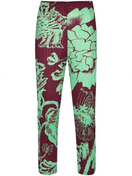 Укороченные брюки - зеленые Pleats Please Issey Miyake