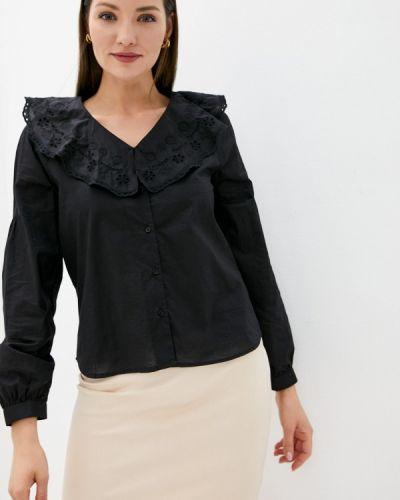 Черная блузка с оборками Soaked In Luxury