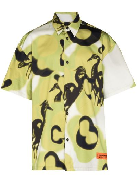 Koszula krótki rękaw - zielona Heron Preston