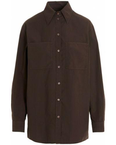 Brązowa koszula Lemaire