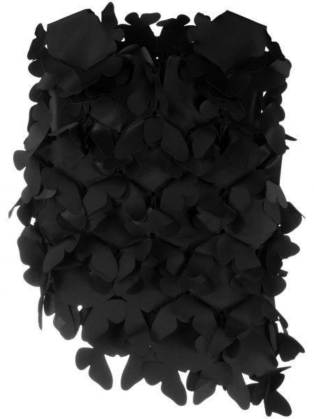 Черный асимметричный топ без рукавов с круглым вырезом Paskal