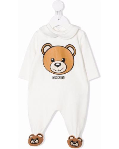 Biała piżama z długimi rękawami Moschino Kids