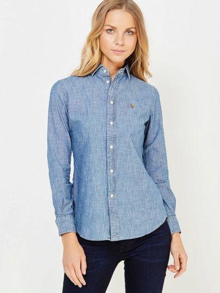 Джинсовая рубашка синяя Polo Ralph Lauren