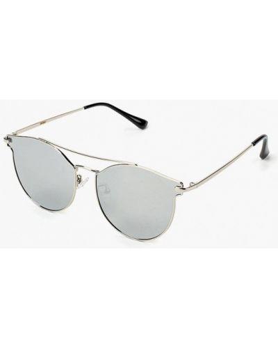 Солнцезащитные очки серебряного цвета Pur Pur