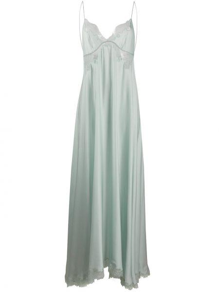 Koszula nocna koronkowa - zielona Carine Gilson