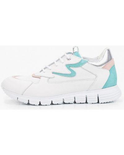 Белые кожаные кроссовки Roobins