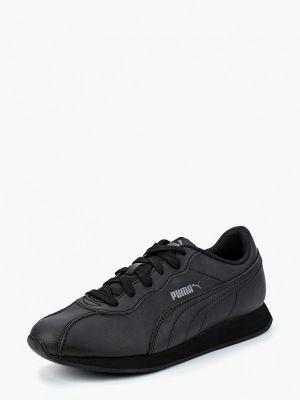 Черные кроссовки из искусственной кожи Puma