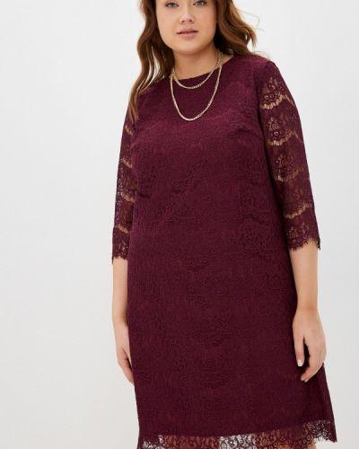 Повседневное платье - бордовое Shovsvaro