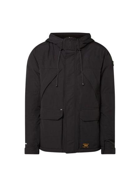 Czarna kurtka z kapturem bawełniana Khujo