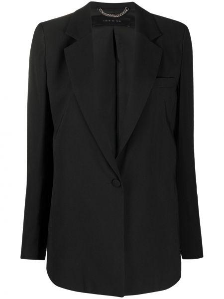Однобортный черный приталенный классический пиджак Federica Tosi