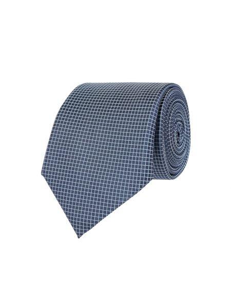 Krawat w kratę - turkusowy Boss