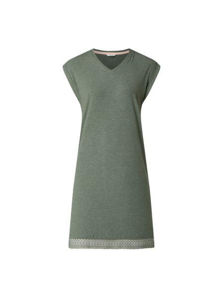 Koszula nocna z wiskozy - zielona Esprit