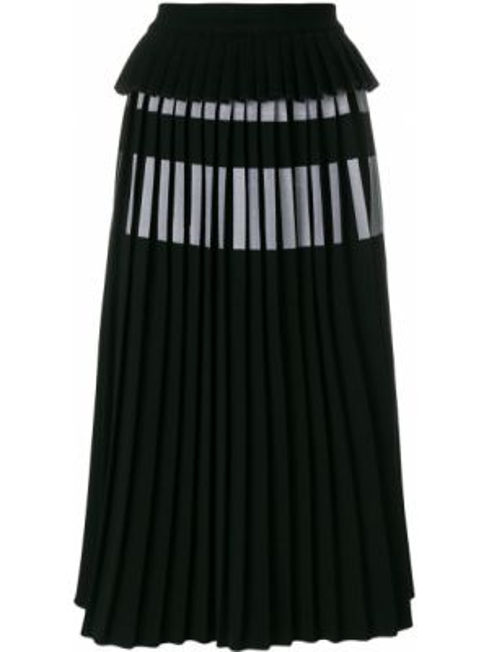 Черная плиссированная юбка Ioana Ciolacu