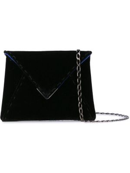 Бархатная синяя маленькая сумка с подкладкой Tyler Ellis