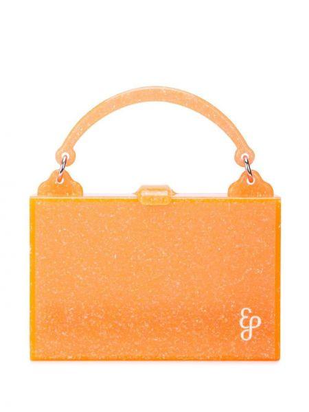 Акриловая оранжевая маленькая сумка круглая Edie Parker