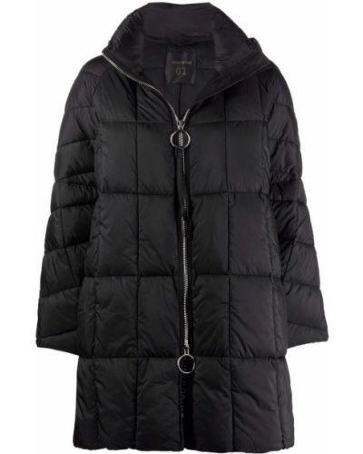 Черное пальто длинное Semicouture