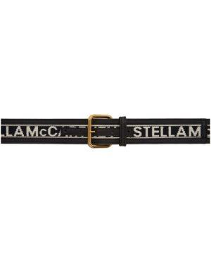 Кожаный черный ремень с пряжкой свободного кроя Stella Mccartney