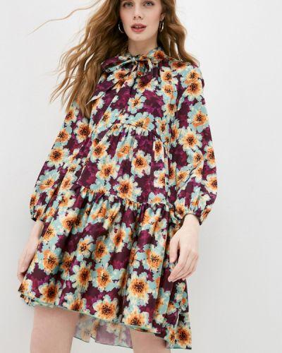 Разноцветное платье Please