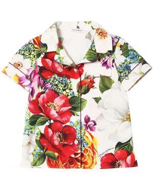 Рубашка с принтом с цветочным принтом Dolce & Gabbana