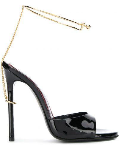 Черные сандалии на каблуке Maison Ernest