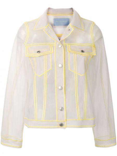 Серая куртка с воротником со вставками Viktor & Rolf