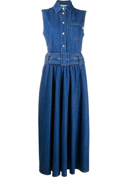 Платье миди джинсовое на пуговицах Msgm