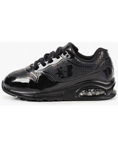 Лаковые черные кожаные кроссовки Beppi