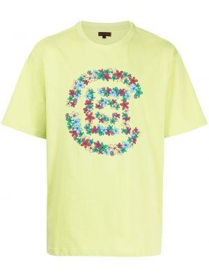 Zielona t-shirt bawełniana krótki rękaw Clot