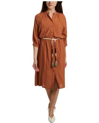 Pomarańczowa sukienka midi Sessun