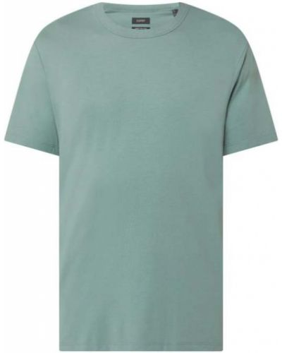 Zielony t-shirt bawełniany Esprit Collection