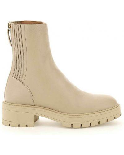 Beżowe ankle boots Aquazzura