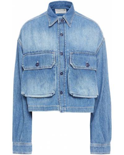 Синяя укороченная куртка R13