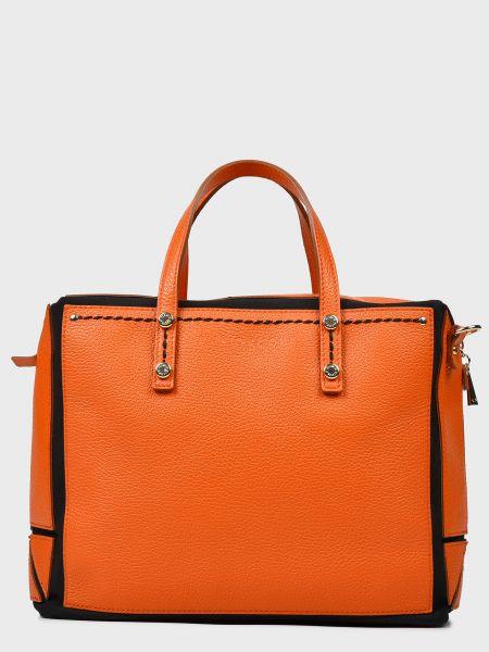 Кожаная сумка - оранжевая Plinio Visona'