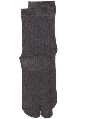 Хлопковые вязаные носки в рубчик Maison Margiela