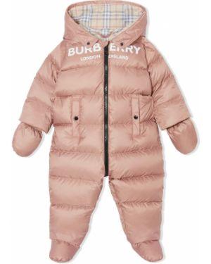 Garnitur fioletowy kostium Burberry Kids