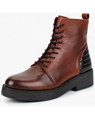 Кожаные ботинки осенние на каблуке Dali