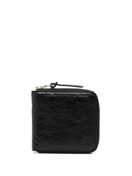 Czarny portfel skórzany Visvim