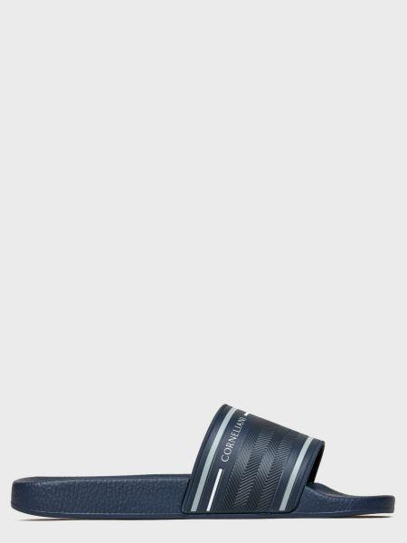 Резиновые шлепанцы - синие Corneliani